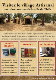 le prospectus village artisanal thies au recto
