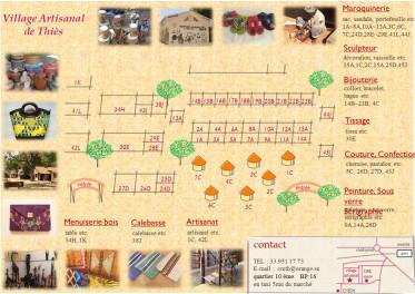 le prospectus village artisanal thies au verso